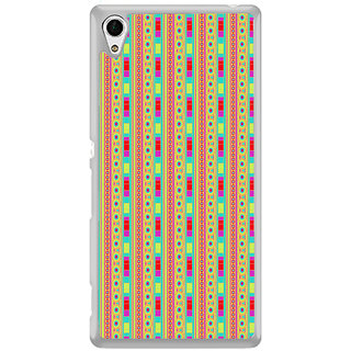 ifasho Animated Pattern colrful traditional design Back Case Cover for Sony Xperia M4 Aqua