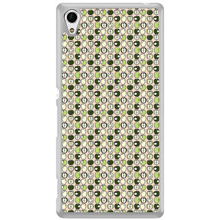 ifasho Animated Pattern design many small apple full and half Back Case Cover for Sony Xperia M4 Aqua