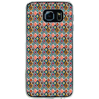 ifasho Animated Pattern design colorful in royal style Back Case Cover for Samsung Galaxy S6