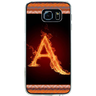 ifasho alphabet name series A Back Case Cover for Samsung Galaxy S6