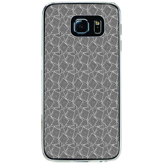 ifasho Modern Theme of black and white Squre inside square Back Case Cover for Samsung Galaxy S6