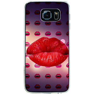 ifasho lovely Lips Back Case Cover for Samsung Galaxy S6
