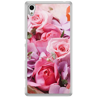 ifasho Red Rose Back Case Cover for Sony Xperia Z3 Plus