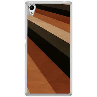 ifasho Design lines of different colours pattern Back Case Cover for Sony Xperia Z3 Plus