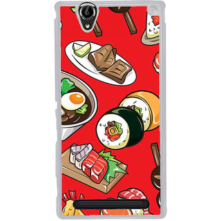 ifasho Animated food pattern Back Case Cover for Sony Xperia T2