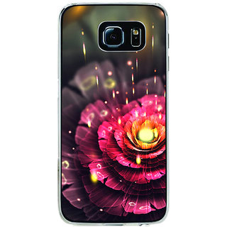 ifasho water Drop on flower Back Case Cover for Samsung Galaxy S6 Edge