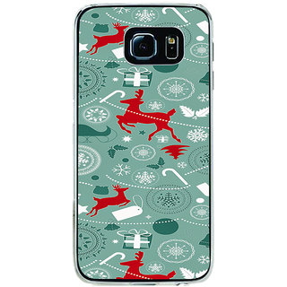 ifasho Animated Pattern design colorful flower in royal style Back Case Cover for Samsung Galaxy S6 Edge