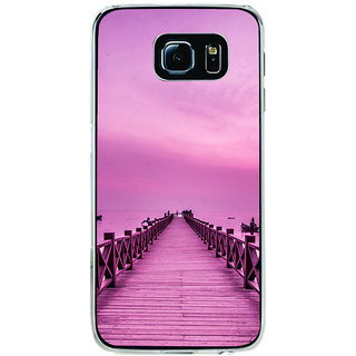 ifasho walking wooden bridge on a sea Back Case Cover for Samsung Galaxy S6 Edge