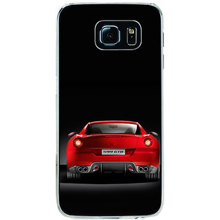 ifasho Red Stylish Car from back side Back Case Cover for Samsung Galaxy S6
