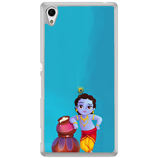 ifasho Lord Krishna stealing curd animated Back Case Cover for Sony Xperia Z3 Plus