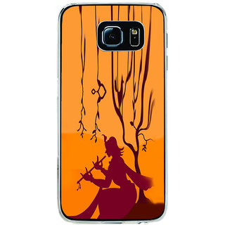 ifasho Lord Krishna with Flute animation Back Case Cover for Samsung Galaxy S6
