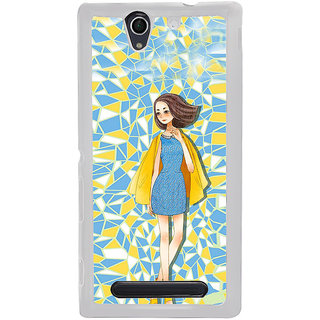 ifasho Skinny girl Back Case Cover for Sony Xperia C4
