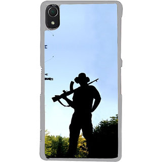 ifasho Army man With Gun Back Case Cover for Sony Xperia Z3