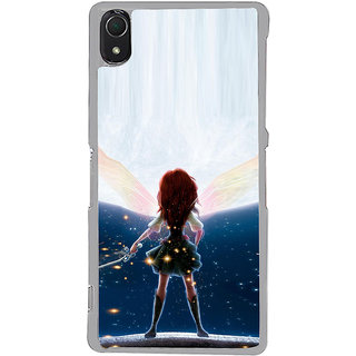 ifasho Girl with blade animated Back Case Cover for Sony Xperia Z3