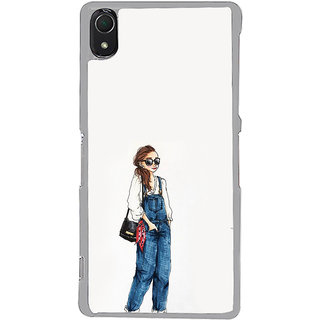 ifasho Girl in jeans Back Case Cover for Sony Xperia Z3