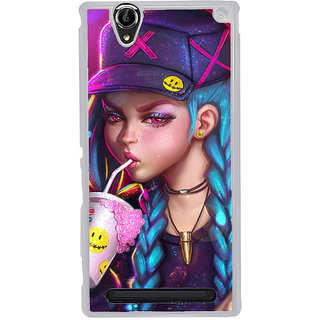 ifasho Girl drinking cold drink Back Case Cover for Sony Xperia T2