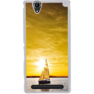 ifasho Boating at sunset Back Case Cover for Sony Xperia T2
