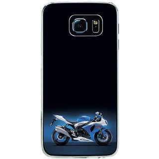 ifasho Bikoholic Sport Bike Back Case Cover for Samsung Galaxy S6