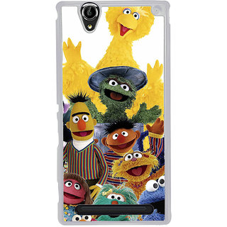 ifasho Cartoon Soft face many cartoons characters Back Case Cover for Sony Xperia T2