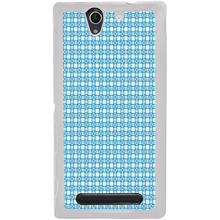 ifasho Modern Art Design animated cloth Pattern Back Case Cover for Sony Xperia C4