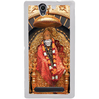 ifasho Shirdi Sai Baba Back Case Cover for Sony Xperia C4