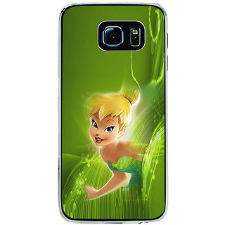 ifasho Cute Girl animated Back Case Cover for Samsung Galaxy S6 Edge