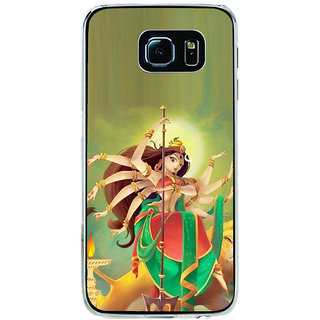 ifasho Godess Durga Back Case Cover for Samsung Galaxy S6 Edge