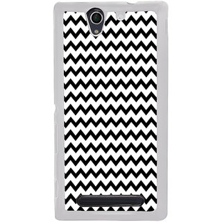 ifasho Animated Pattern of Chevron Arrows royal style Back Case Cover for Sony Xperia C4