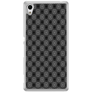 ifasho Animated Pattern design black and white flower in royal style Back Case Cover for Sony Xperia M4 Aqua