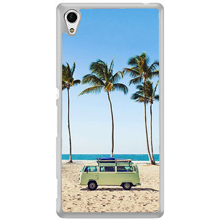 ifasho Bus on a beach Back Case Cover for Sony Xperia Z3 Plus
