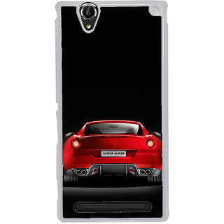 ifasho Red Stylish Car from back side Back Case Cover for Sony Xperia T2