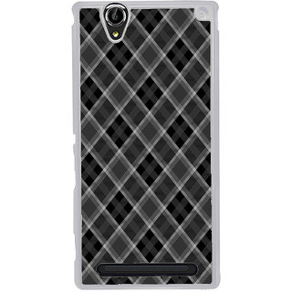 ifasho Design lines pattern and square pattern Back Case Cover for Sony Xperia T2