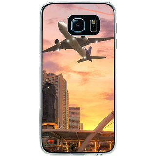 ifasho aeroPlane flying in city Back Case Cover for Samsung Galaxy S6