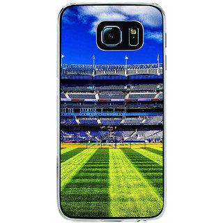 ifasho Football stadium field Baseball field Back Case Cover for Samsung Galaxy S6