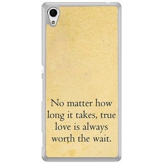ifasho True love quotes Back Case Cover for Sony Xperia Z3 Plus