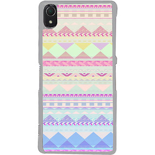 ifasho multi color Triangular Pattern Back Case Cover for Sony Xperia Z3
