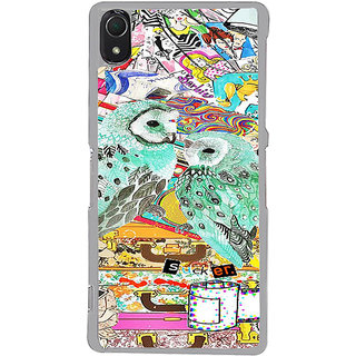 ifasho Girls and owl Back Case Cover for Sony Xperia Z3