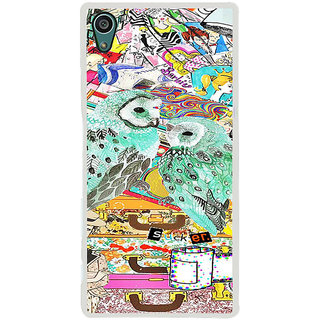 ifasho Girls and owl Back Case Cover for Sony Xperia Z5