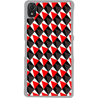 ifasho Colour Full triangle inside Square Pattern Back Case Cover for Sony Xperia Z3