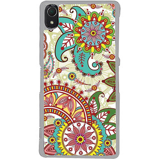 ifasho Animated Pattern colrful design flower with traditional design Back Case Cover for Sony Xperia Z3