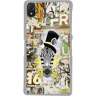 ifasho Animated Pattern of zebra Print Back Case Cover for Sony Xperia Z3