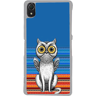 ifasho ModernBird and Owl Pattern Back Case Cover for Sony Xperia Z3