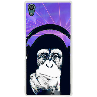 ifasho Monkey with headphone Back Case Cover for Sony Xperia Z5