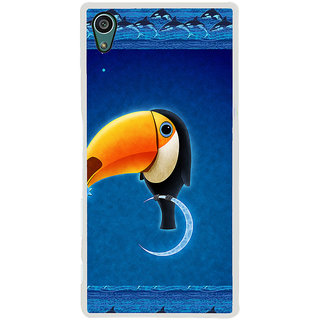 ifasho Bird sitting on moon animated design Back Case Cover for Sony Xperia Z5