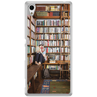 ifasho colrful design library pattern Back Case Cover for Sony Xperia Z3 Plus