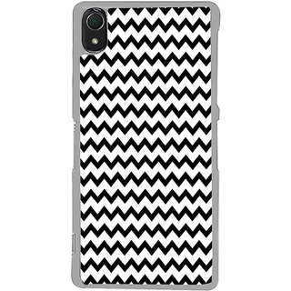 ifasho Animated Pattern of Chevron Arrows royal style Back Case Cover for Sony Xperia Z3