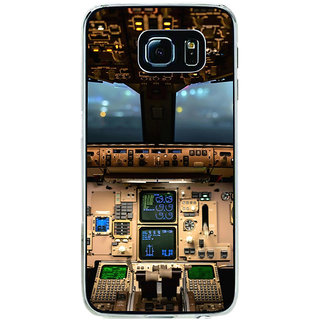ifasho Plane cavin and machines Back Case Cover for Samsung Galaxy S6