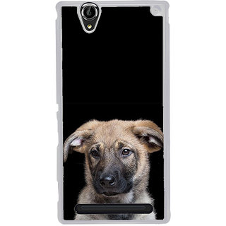 ifasho Grey Dog Back Case Cover for Sony Xperia T2