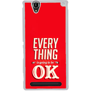 ifasho everything will be ok quotes Back Case Cover for Sony Xperia T2