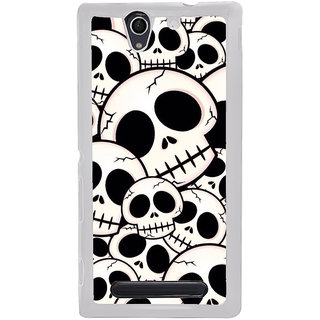 ifasho Modern  Design skeleton Pattern Back Case Cover for Sony Xperia C4